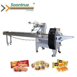 Soontrue 기계장치 빵 음식 웨이퍼 사탕 국수 완전히 자동적인 교류 베개 포장기 포장 기계장치 감싸는 기계