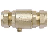 W/Esvaziar igual Non-Return latão de acoplamento da válvula de retenção para o abastecimento de água