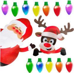 Vacaciones de Navidad en forma de bombilla de luz de Navidad de imanes de nevera coche adhesivo magnético buzón