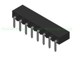 Embase femelle simple rangée de 2,54 mm à angle droit Type DIP H=3.5/5.0/7.0 Le connecteur
