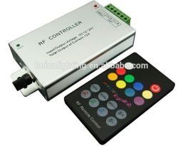 18-Key Aluminum rf Music Controller Audio rf LED RGB Sound Controller, DC5V, 12V~24V 60With144With288W 4A*3CH