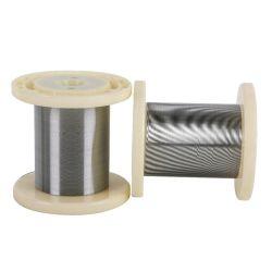 편조된 용매에 유리 샘플을 사용한 0.1mm 초탄성 니티놀 와이어 스텐트와 포클더 장치