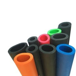 NBR EPP PU TPE PVC blando de silicona de alta temperatura de la manguera de la resistencia de aislamiento de alta calidad de piezas de tubo de espuma de caucho extruido