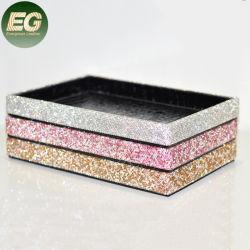 A EA018 Sparkle Organizador de cosméticos decorativos Espelho Rhinestone bandejas de armazenamento do desktop sofisticados cristal cintilante Bandeja Cosméticos