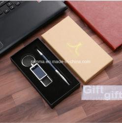 선물 아이디어 스테인리스 Keychain 2018의 법인 금속 가죽 및 절묘한 표시 펜 선물은 남자를 위해 놓았다
