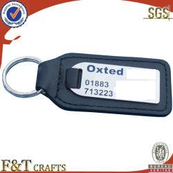سلسلة مفاتيح من الجلد المعدني المخصص الرخيص مع شعار السيارة