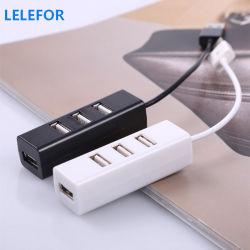 Mozzo alimentabile di carico Hub2.0 mini piccolo 4-Port quello mini di piccola riga del mozzo del distributore di cavo del USB per il distributore di cavo del USB quattro