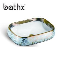 陶磁器のカウンタートップ単一ボールの浴室の楕円形の陶磁器の洗面器