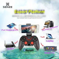Gamepad Senze Android Market/ios para telemóvel/Tablet PC/smart TV com Bluetooth
