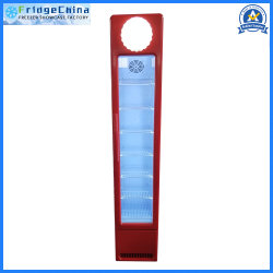 Porta de vidro vertical vitrina de exposição comercial frigorífico suficientes para equipamento de cozinha