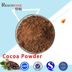 純粋な黒およびブラウンのココア粉
