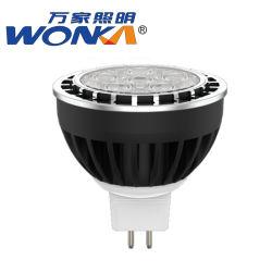 مصباح إضاءة LED لمبيت الألومنيوم MR16 للداخل أو الخارجية الإضاءة