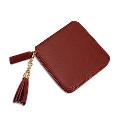 PU 가죽 지퍼 숙녀 지갑 동전 지갑은 술 여자 지갑 지갑을 꾸몄다
