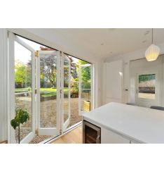 Безопасности дизайн шумоизоляция для использования внутри помещений гостиной Bi Bifold профиль двери аккордеон внутренних дел стекла алюминиевые Складные двери