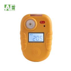 Detector de fugas de gas de una sola mano para la vigilancia No2 0-20ppm con pantalla LCD