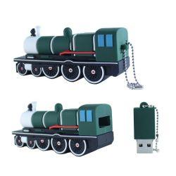 محرك أقراص فلاش Vintage الكاريكاتير سيارة بخارية Vintage USB Silicone محرك أقراص USB محمول للقاطرة
