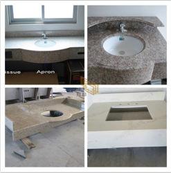 Blanc/jaune/marron/noir/gris/bleu/rouge/rose/Cuisine/Salle de bains/granit/Quartz/Marbre vanité en haut pour la décoration de l'hôtel