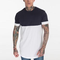 Striped hommes 100% Coton T-shirt col rond de style décontracté