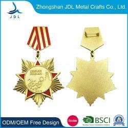 Дешевые старинной меди танцы металлической медаль контакт полиции Star Standantique Silver 3D металлический сувенирный награда медаль Craft медали и призы Brooch (223)