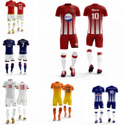 Adulte nouveau maillot de football hommes des kits de formation de football de survêtement Soccer Maillot à manches courtes et Shorts costumes