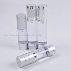 5 ml 15ml 30ml 50ml Transparent en plastique en aluminium Double de Luxe Chambre bouteille Airless cosmétique