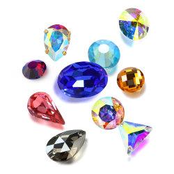Crystal a fait l'arrière pour de gros de bijoux en pierres fantaisie