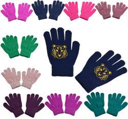 BSCI рекламных различных цветов акриловый дети дрсуга зимние вязаные рукавицы