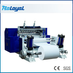 Rouleau de papier de caisse enregistreuse trancheuse rembobineur de refendage de papier thermique de la machinerie