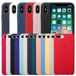 Großhandelsqualitäts-flüssiger Silikon-Kasten-ursprünglicher schützender Telefon-Kasten für iPhone X 7 8 Plus