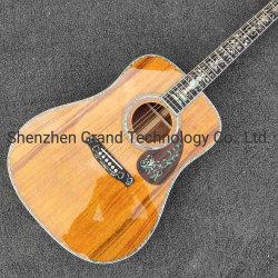 """Les inlays ormeau réel de l'Ébène poutre 41 """" bois de Koa Guitare acoustique classique"""