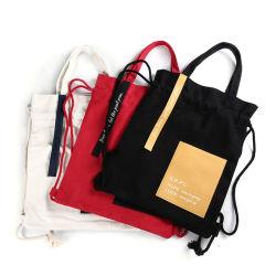 El logo impreso personalizado 100% algodón natural bolso, la promoción de la bolsa de compras de tela orgánica