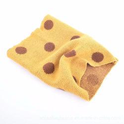 Cabo de acrílico de moda de fios tecidos tingidos lenço Neckwarmer Snood loop infinito cachecol