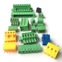 렉트릭 단자 블록 피치 블록 3.5 5.08 5.08mm 5mm 피치 접촉 스프링 플러깅 플러그인 PCB 터미널 블록