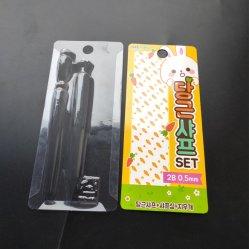 カスタム鉛筆の文房具のプラスチックまめのカードの化粧品の包装ボックス