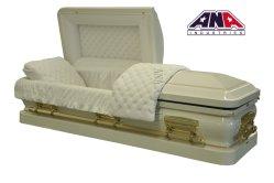 애나 중국 싼 고품질은 돔 장례식 18ga 강철 금속 관을 제조한다