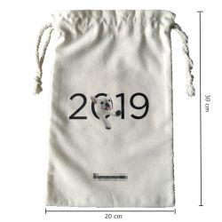 Cordão de algodão equipamento saco, Personalizar Wholesales Ecológico de tecido reciclado Muslin reutilizáveis Caliça Lona Natural Lavandaria Dom Promocionais Saco de compras