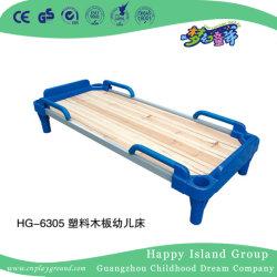 유치원 가구 플라스틱 Bedstead (HG-6305)를 가진 나무로 되는 쌍둥이 크기 학교 침대