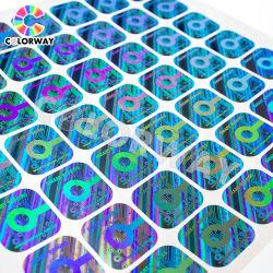 ورق ذو ألوان احترافية طباعة ملصقات مخصصة تصميم ملصقات ثلاثية الأبعاد متراكب جلواني