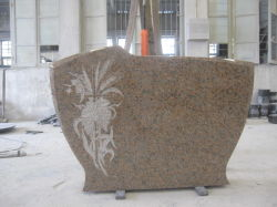 De opgepoetste Natuurlijke Grafsteen van het Graniet van de Grafzerk van de Grafstenen van het Hart van de Monumenten van de Stijl van het Graniet van de Rouge van Manufactory van de Steengroeve Rode Westelijke Enige of Dubbele