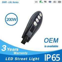 Source lumineuse à LED de rafles coque en aluminium de la rue de la tête de Cobra lamp 200w