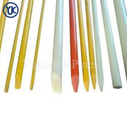 Perfil Pultrusion PRFV, Haste de plástico reforçado com fibra de vidro, GRP Haste para a indústria química