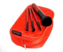 Поездки набор щеток в подарок для продвижения с деревянной ручкой и синтетические волосы