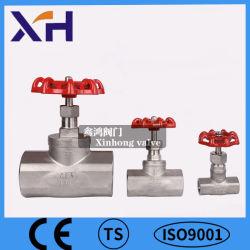 CF8/CF8m em aço inoxidável válvula globo 1/2polegada; tipo de rosca