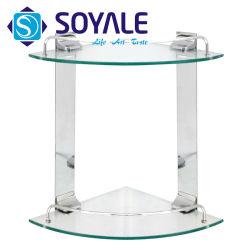 クロム仕上げSy DGcsを用いる亜鉛合金の倍のガラス角の棚