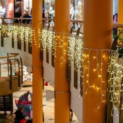 Armazenar música Icicle LED acende as luzes de Natal penduradas cortina LED comercial