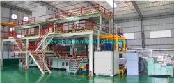 쉬운 운영 경제 이득 낮은 에너지 소비 2400mm SMS Spunbond 용해에 의하여 불어지는 비 길쌈된 생산 라인 기계