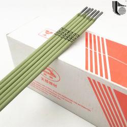 중국 제조자 MMA Smaw 안정되어 있는 아크 온화한 강철 금홍석 입히는 지팡이 아크 용접 전극을 납땜하는 높은 예금된 Effciency Titania Aws E6013 강철 합금