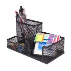 Escritório de malha metálica Shcool Horas Organizador de caneta de lápis de Desktop