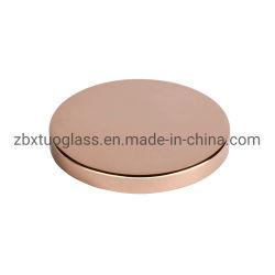 Usine d'alimentation bougie en verre de couleur rose Jar Couvercle capot de couvercle de métal dans la galvanoplastie matériel
