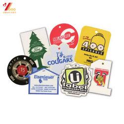 Personnalisé Papier de la mode de gros logo imprimé Diffuseur de parfum pour voiture de la saveur parfum pour cadeaux promotionnels